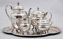 A GERMAN SILVER TEA SET