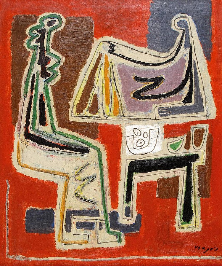 Aharon Kahana 1905 - 1967 Women by the Table