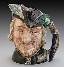 A ROYAL DOULTON TOBY JUG MODELED AS ROBIN HOOD