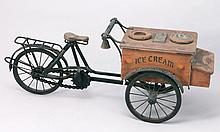 A Curiosity collector's item. Small scale model of an ice cream stall