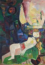 Leo Roth 1914 - 2002, Couple, Oil on canvas, 1961,