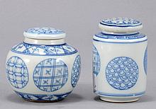 A LOT OF TWO CHINESE BLUE AND WHITE PORCELAIN ITEMS FROM A SCHOLARS DESK