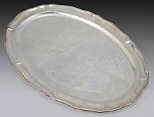 A STERLING SILVER TRAY