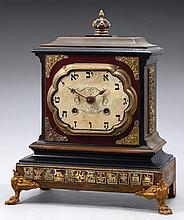 AN ANTIQUE GERMAN JUDAICA CLOCK