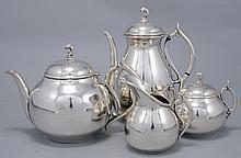 A STERLING SILVER TEA SET