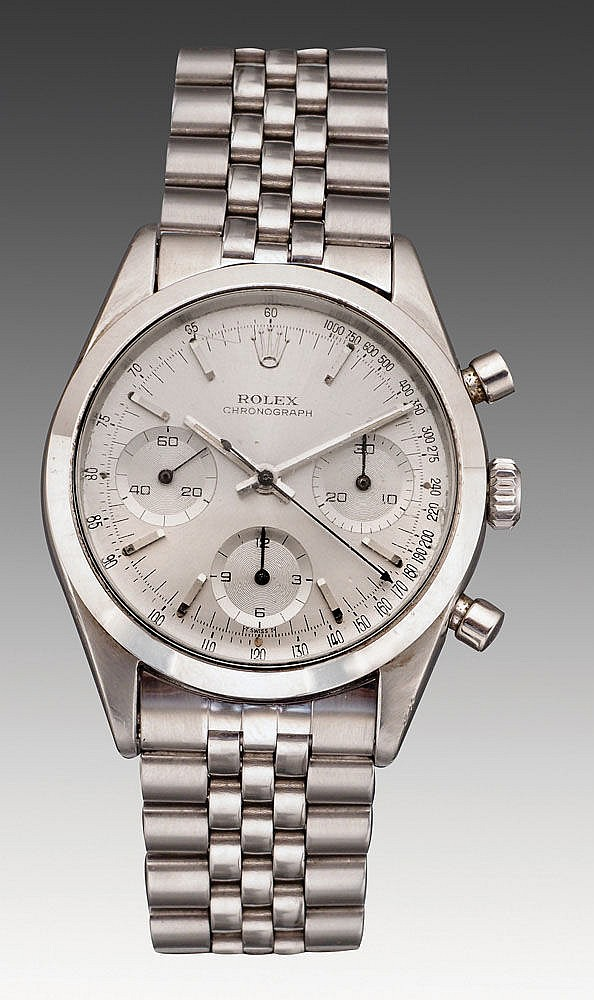 Rolex, a Stainless steel wristwatch, A fine and rare model