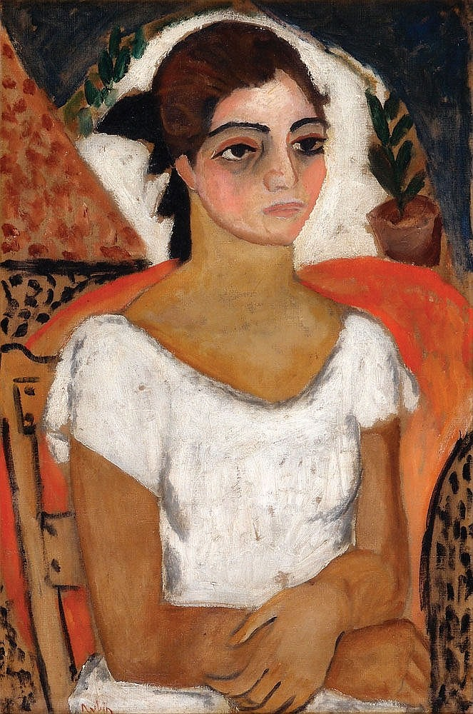 Reuven Rubin 1893 - 1974  Girl