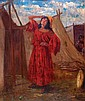 Maurycy Trebacz 1861 - 1941  Young Woman in a Tent,