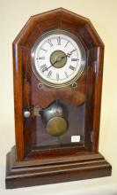 Antique Seth Thomas Walnut Octagon Top Shelf Clock,