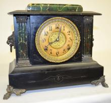 Antique Gilbert Mantel Clock: T&S with a signed