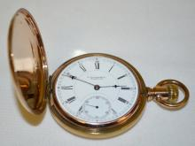 E Howard & Co. Boston 18S 15J SW/SS Series 9 Hunting Case Pocket Watch with Serial No. 402999: With a signed