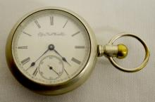 Elgin GM Wheeler 11-17J 18S OF LS Full Pocket Watch No. 4757680: With a SSD in a White SF&B Illinois nickel silver case No. 802152.