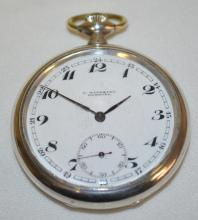 Movado 16S 15J Pocket Watch with the Dust Cover Stamped