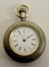 Waterbury Watch Co. Series N Ladies Pocket Watch: With a signed dial and movement, marked