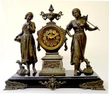 July 11th, Antique Statue Clocks, Ansonia, New Haven & Others