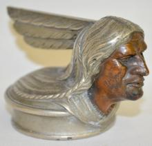 Cast Iron Pontiac Indian Head Radiator Cap: Unmarked and with the original paint. 3