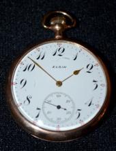 Hampden No. 108 17J 16S OF LS DMK No. 3512804 Pocket Watch, running, in a white SF&B Philadelphia silverode case No. 331848, SSD