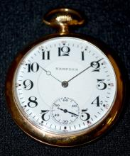 Hampden Wm. McKinley 21J 16S OF LS DMK Adj. 5 Pos. GJS DR Pocket Watch No. 3381442 with a DSD and in a yellow SF&B Keystone J Boss 10K gold-filled Case No. 9806236, running