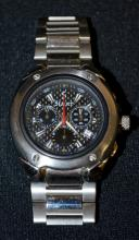 Stauer 5 Function Chronograph Wrist Watch #15992 on the back. Not running at this time.