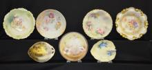 7 Assorted Antique China Pieces: 1) Four Bowls w/Germany and France marks; 2) Three Nippon China Pieces