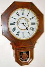 Antique Schoolhouse Wall Clock Advertising