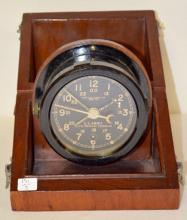 Chelsea Clock Co. Boston U.S. Army Clock Message Center, Mark 2 in wood case, Type B 12/24 hour dial, phenolic case