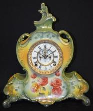 Ansonia Porcelain Clock, Royal Bonn