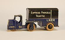 A Dinky Toys No. 33r mechanical horse and trailer,