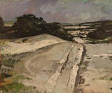 Michael Noakes - View of a Country Lane, oil on