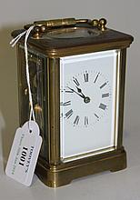 An early 20th Century brass cased carriage clock