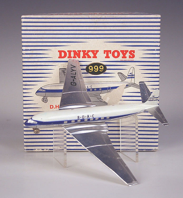 A Dinky Toys No. 999 D.H. Comet 'BOAC', within a