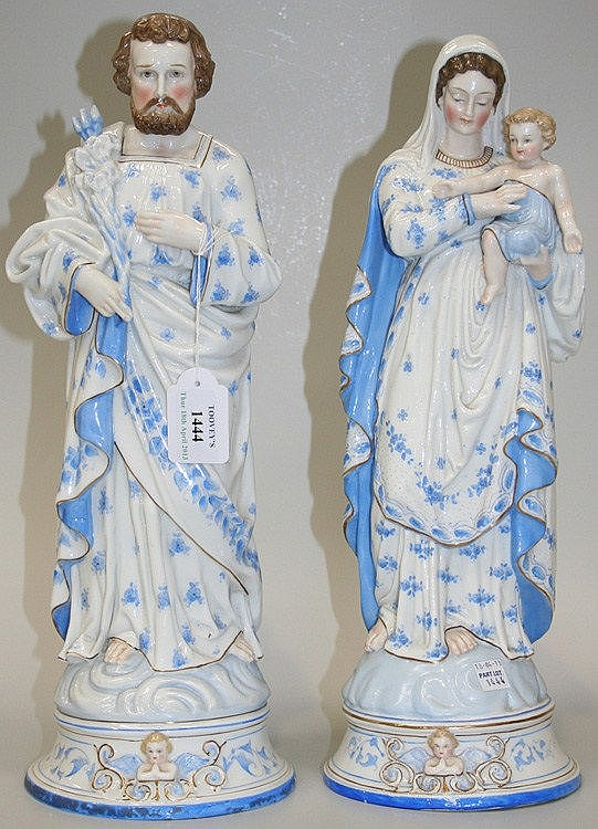 A pair of Continental porcelain figures, late 19th