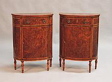 A pair of late George III Sheraton period burr