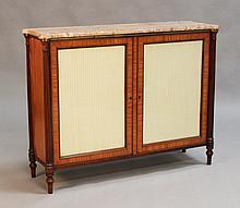 A Regency satinwood two door pier cabinet, the