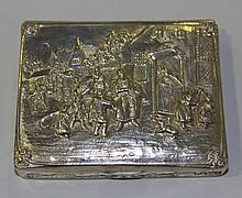 A German .800 silver snuff box of rectangular