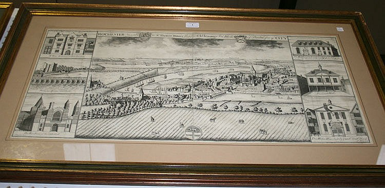 After Johannes Kip - 'Rochester Inscribed to Sr