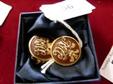 Pair of G.W Bagget Military Buttons c.1833