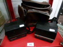 Two Polaroid Cameras : Super Color 635 and Super Color 670AF