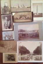 19th CENTURY CABINET CARDS, SIGNED PHOTOGRAPH BY TIFFANY AND MILITARY SUBJECTS (12)
