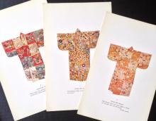 JAPANESE TEXTILE COSTUME ALBUM: YUSAKU TANAKA, 'NO. COSTUMES OF JAPAN 1573-1829', C. 1920