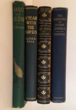 (4)  IILLUSTRATED ORNITHOLOGY BOOKS, AUTHORS:  MICHELET, CHAPMAN (1st Ed.),  BALL (1st Ed.), &  HOLDEN,  19th / EARLY 20th C.