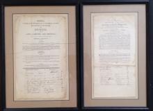 (2) PUBLISHER DOCUMENTS, LETTER OF ISSAC PENNINGTON, 1807 & THOMAS CHALKLEY 1800