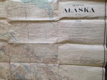 MAP OF ALASKA 1909, ANDREW B. GRAHAM CO., ALASKA ROAD COMMISSION