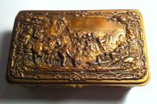 JENNINGS BROTHER JEWELRY BOX,  'CLASSICAL SCENE'