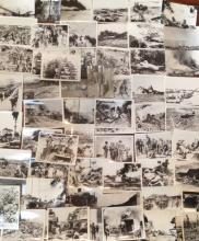 (64) WWII ORIGINAL COMBAT PHOTOGRAPHS, BATTLE OF SAIPAN, PACIFIC THEATER