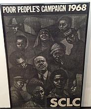 1968 MARTIN LUTHER KING, 'POOR PEOPLES CAMPAIGN' POSTER