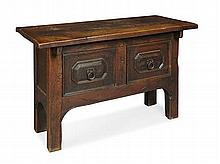 CONTINENTAL OAK CHEST 17TH CENTURY 137cm wide, 81cm high, 59cm deep