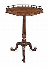 GEORGE III OCTAGONAL TILT TOP TRIPOD TABLE 18TH CENTURY 53cm diam, 77cm high