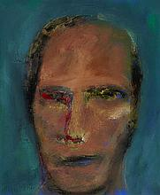 § DOUGLAS THOMSON (SCOTTISH B.1955) PHILOSOPHER 32cm x 28cm (12.5in x 11in)