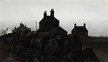 § JACK SIMCOCK (BRITISH B.1929) FROM WOOD STREET, MOW COP 20.5cm x 36cm (10in x 14in)